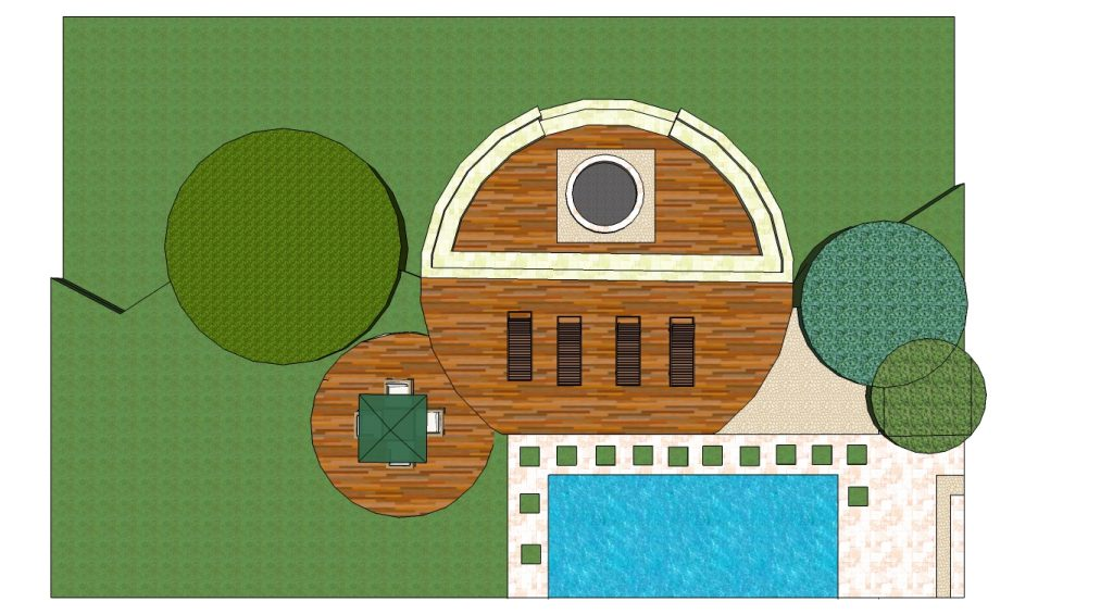 Decking plan in colour