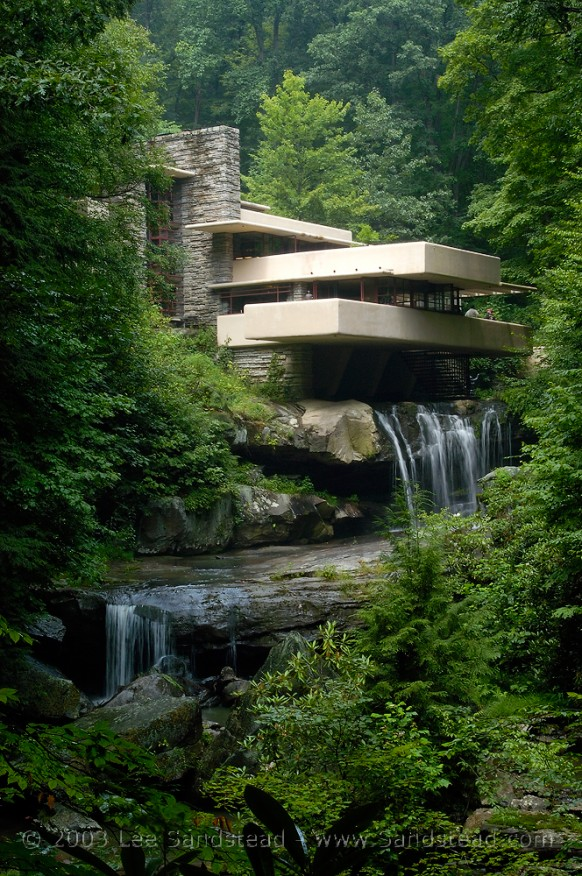 The house that IS a waterfall